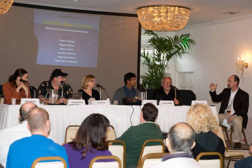 At ConDor with Peter Beagle, Greg van Eekhout, Nancy Holder, Jonathan Maberry and Alessa Ellefson